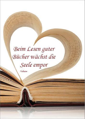 40498e2c0d89bd Postkarte  Beim Lesen guter Bücher... - Schöne Dinge Shop