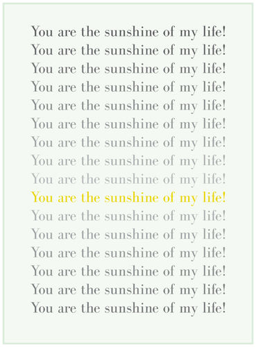 Poster You are the sunshine